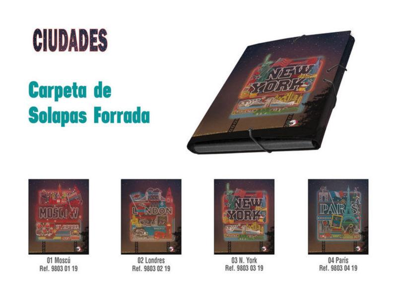 CIUDADES N. YORK * CARPETA SOLAPAS FORRADA Fº R: 98030319