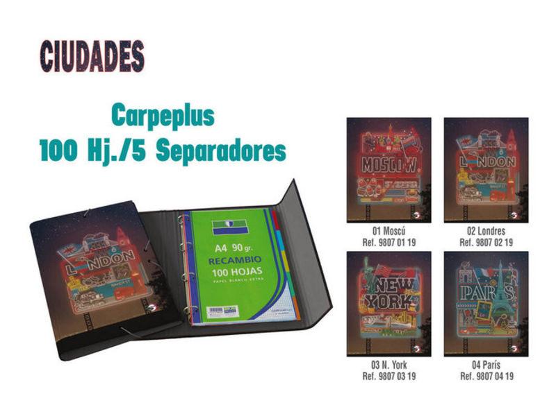 CIUDADES PARIS * CARPEPLUS 100H 5 SEPARADORES Fº R: 98070419