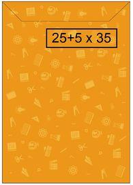 PAQ / 100 SOBRE PAPEL GRANDE 25+5x35cm AMILIBRO R: 0001