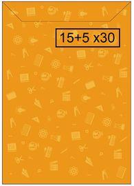 PAQ / 100 SOBRE PAPEL PEQUEÑA 15+5x30cm AMILIBRO R: 0002