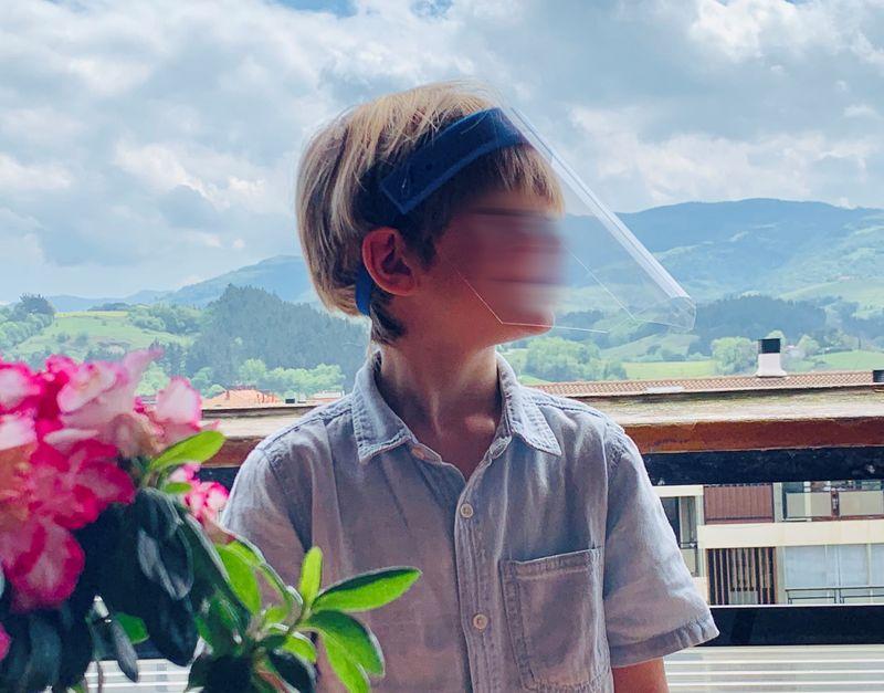 Paq / 5 Pantalla Facial Azul (infantil)