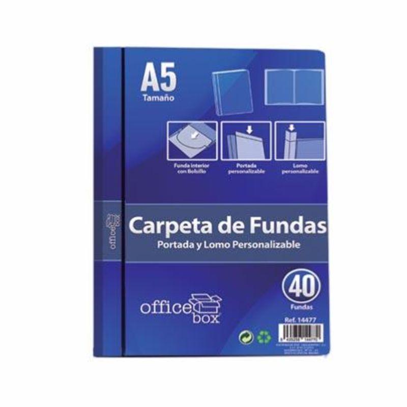CARPETA 40 FUNDAS PERSONALIZABLE A5 R: 14477