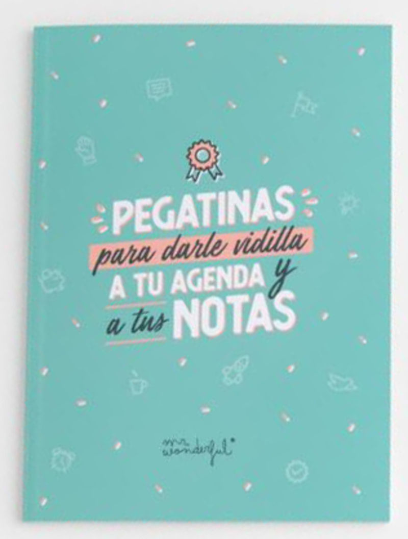 MR. WONDERFUL * LIBRETA DE PEGATINAS PARA DARLE VIDILLA