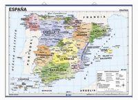 MAPA MURAL ESPAÑA FIS / POL