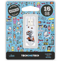 BE ORIGINAL * MEMORIA USB 16GB 2.0 CALAVERA MOTO R: TEC4002-16