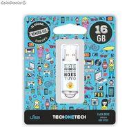 BE ORIGINAL * MEMORIA USB 16GB 2.0 NO ES TUYO R: TEC4007-16