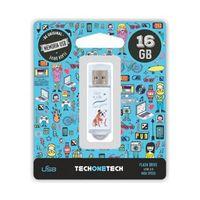 BE ORIGINAL * MEMORIA USB 16GB 2.0 QUE VIDA MAS PERRA R: TEC4009-16