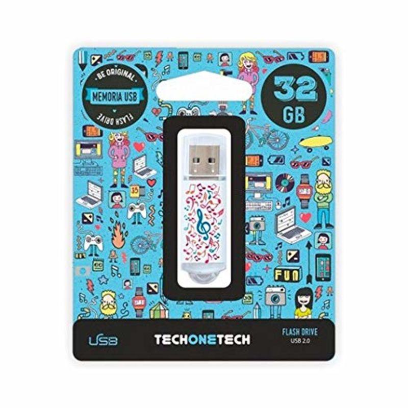 BE ORIGINAL * MEMORIA USB 32GB 2.0 MUSIC DREAM R: TEC4003-32
