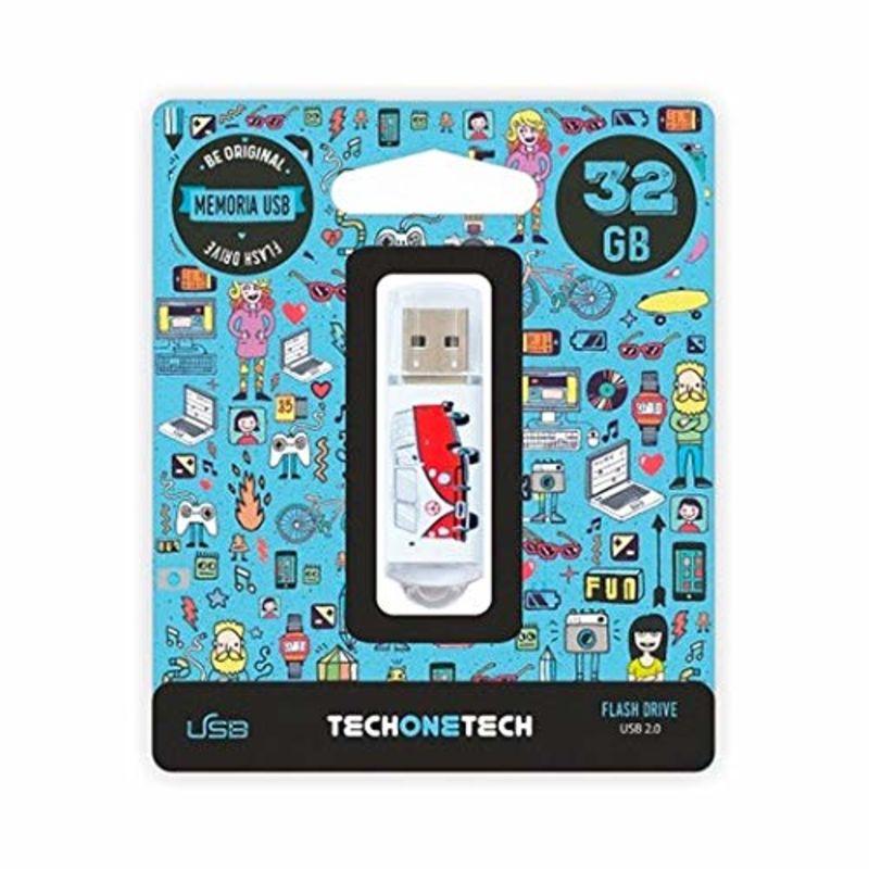 BE ORIGINAL * MEMORIA USB 32GB 2.0 CAMPER VAN-VAN R: TEC4004-32