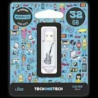 BE ORIGINAL * MEMORIA USB 32GB 2.0 CRAZY BLACK R: TEC4006-32