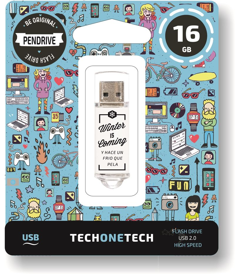BE ORIGINAL * MEMORIA USB 16GB 2.0 WINTER IS COMING R: TEC4010-16