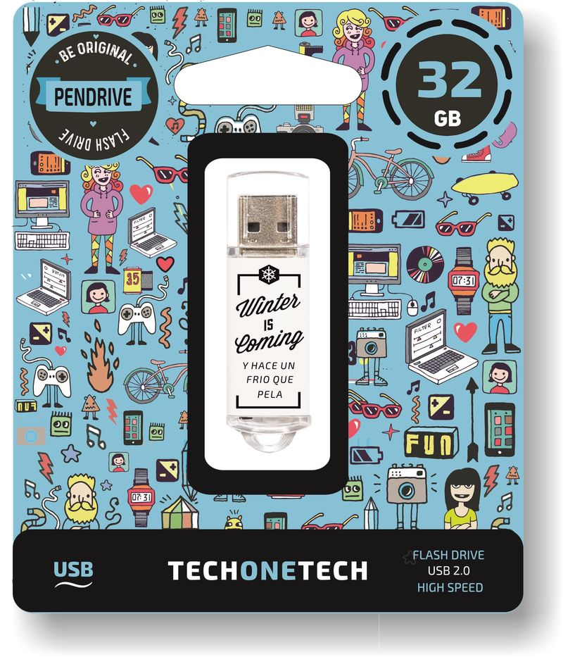 BE ORIGINAL * MEMORIA USB 32GB 2.0 WINTER IS COMING R: TEC4010-32