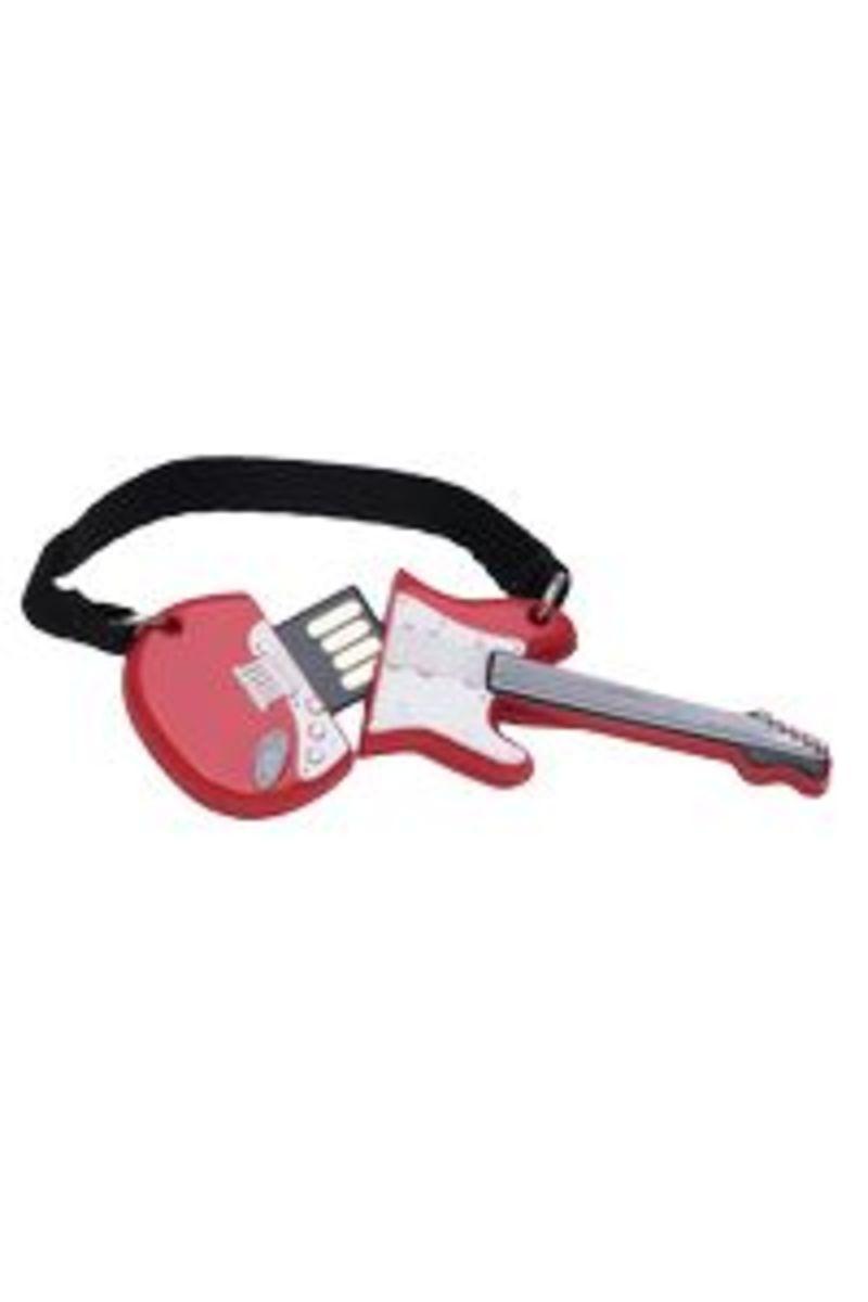 Memoria Usb 32 Gb Guitarra One Roja -