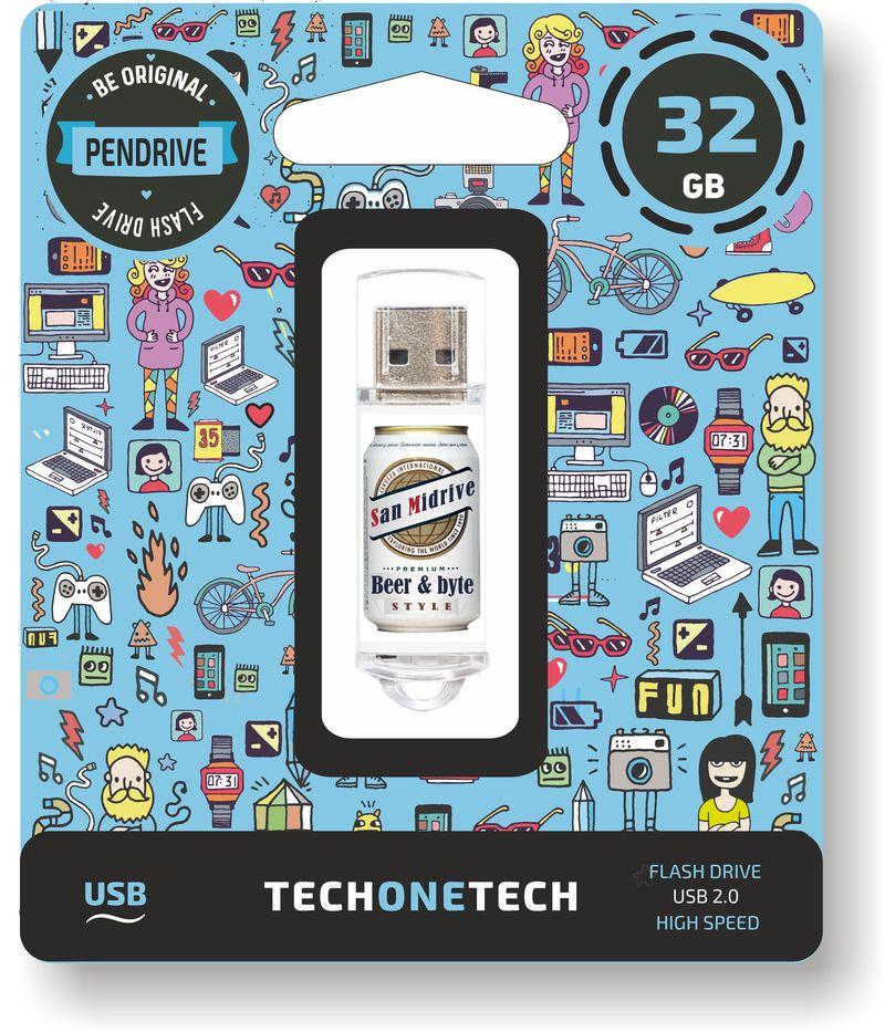 BE ORIGINAL * MEMORIA USB 32 GB BEERS & BYTES SAN MIDRIVE CERVEZA