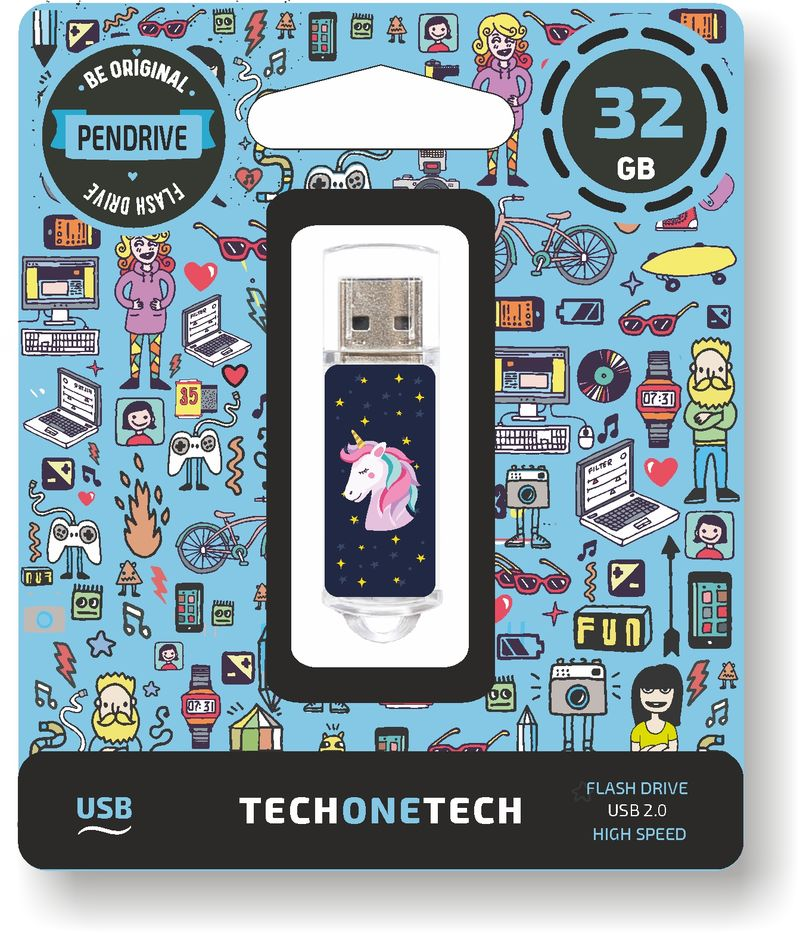 BE ORIGINAL * MEMORIA USB 32 GB UNICORNIO DREAM