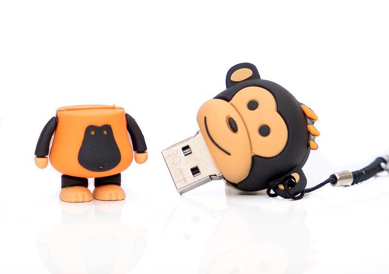 MEMORIA USB 32 GB MAKAKO MONO NARANJA