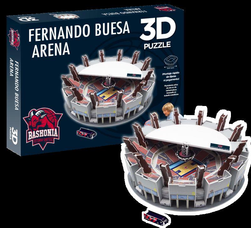 baskonia * puzzle estadio 3d fernando buesa arena