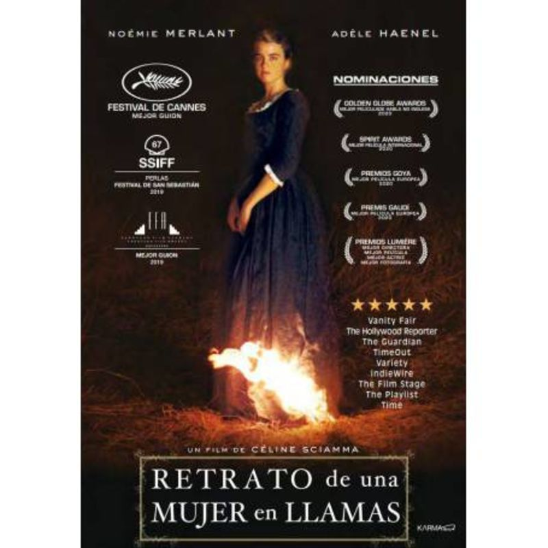 RETRATO DE LA MUJER EN LLAMAS (DVD) * NOEMI MERLANT