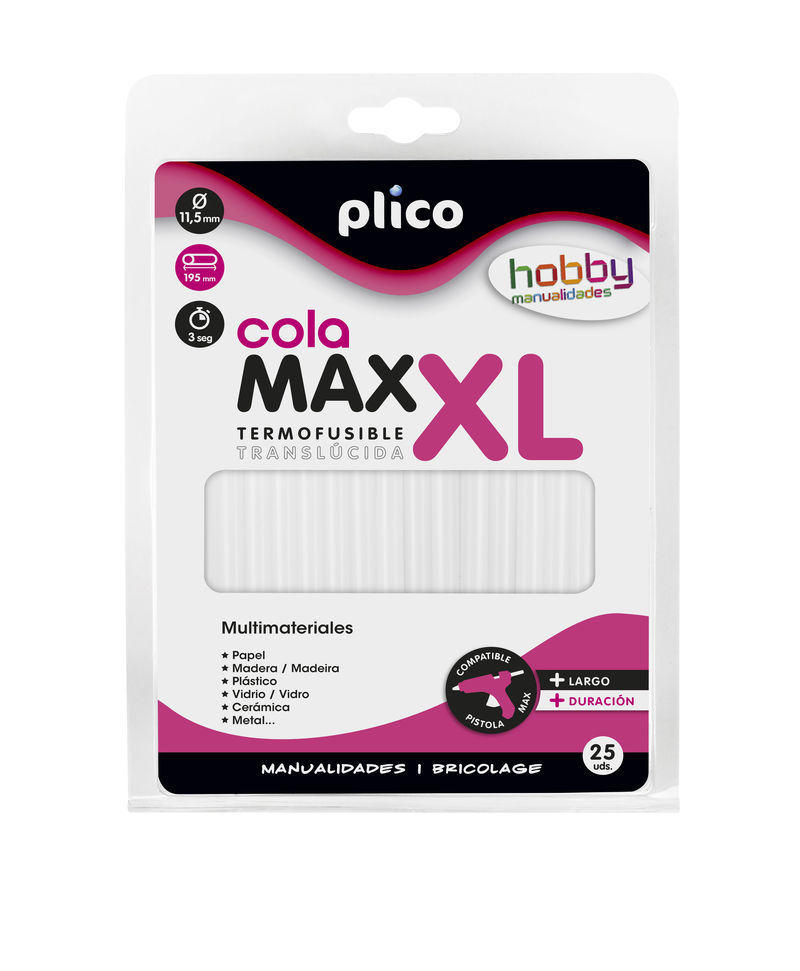 BLISTER 25 BARRITAS COLA MAX-XL 12mm R: 1644