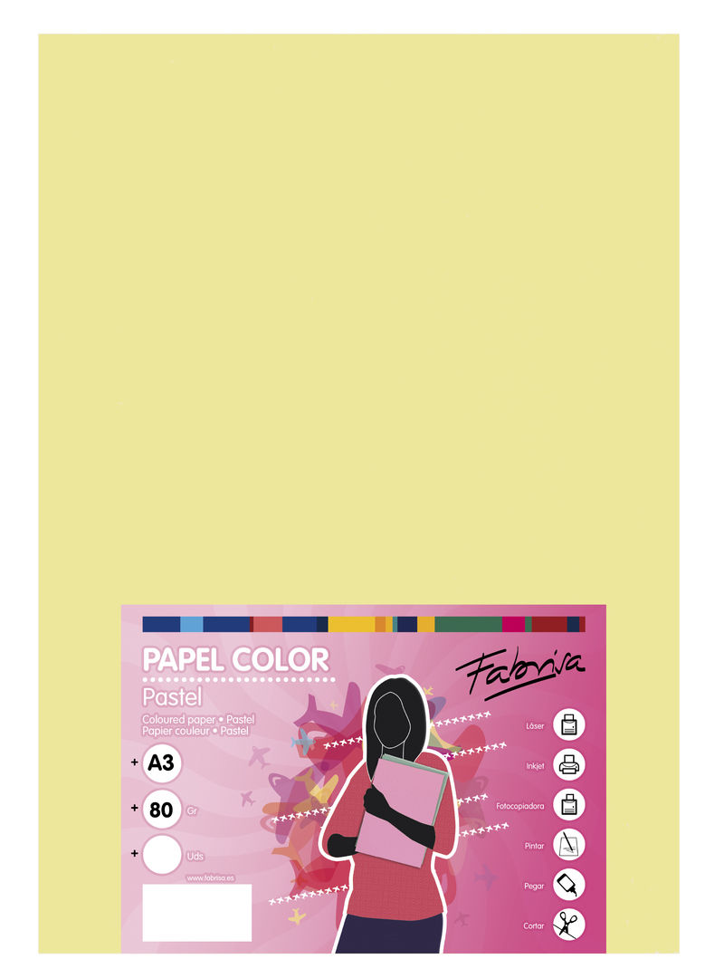 PAQ / 500H PAPEL 80G A3 AMARILLO