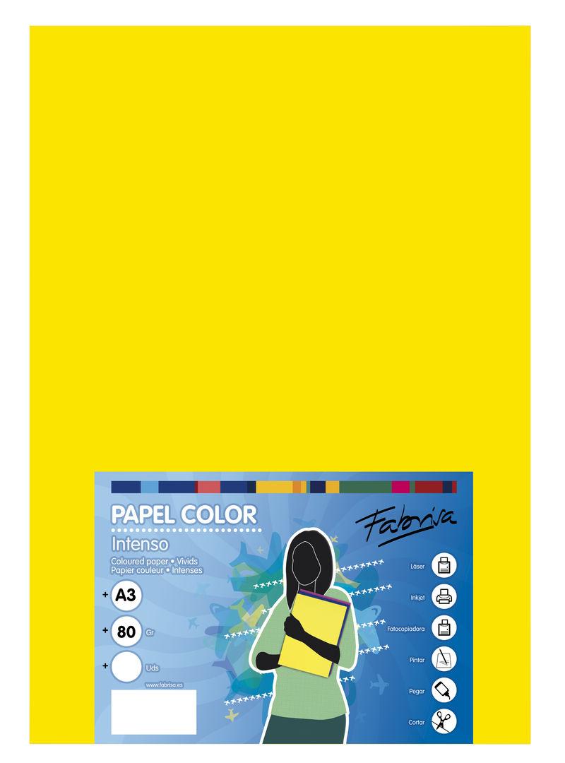 PAQ / 500H PAPEL 80G A3 AMARILLO FUERTE