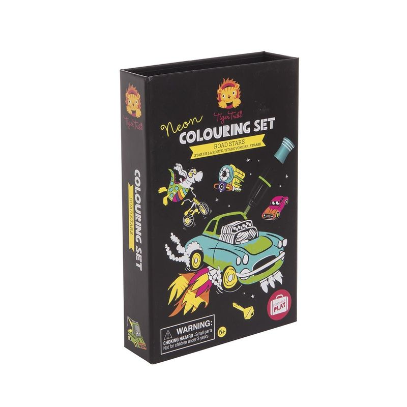 NEON COLOURING SETS ROAD STARS R: 3760259