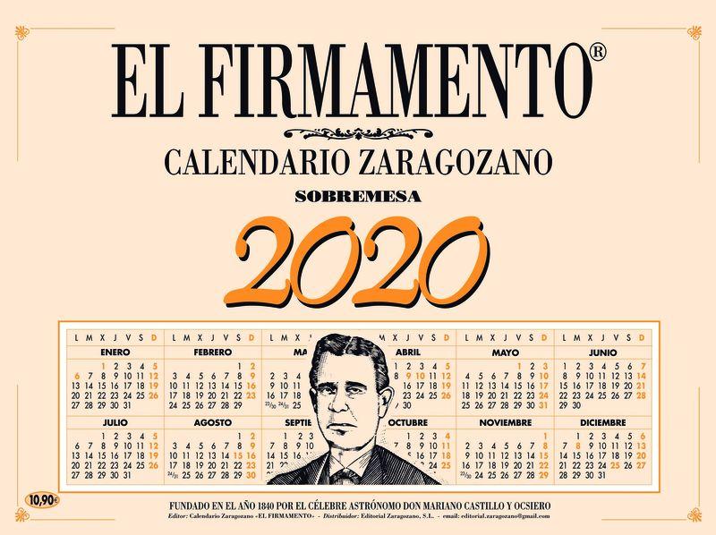 2020 - CALENDARIO ZARAGOZANO SOBREMESA - EL FIRMAMENTO
