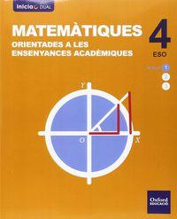 ESO 4 - MATEMATIQUES (ACADEMICAS) - INICIA DUAL (C. VAL)