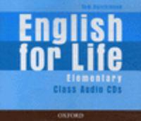 ENGLISH FOR LIFE ELEM CLASS CD