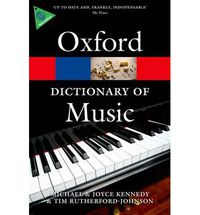 OXF DICTIONARY OF MUSIC, THE (6 ED)