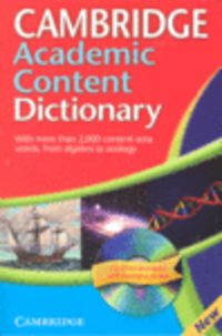 CAMB ACADEMIC CONTENT DICTIONAY (+CD-ROM)