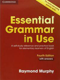 (4 ed) essential grammar in use w / key - Raymond Murphy