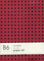 Oh * Libreta B6 Liso Rojo / Negro -