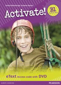 ACTIVATE B1 ETEXT ACCESS CARD (+DVD)