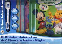 MI BIBLIOTECA INTERACTIVA DE 6 LIBROS CON PUNTERO MAGICO