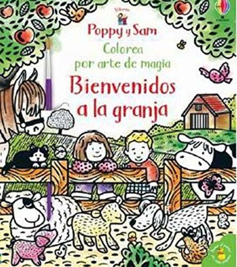 POPPY Y SAM BIENVENIDOS A LA GRANJA - COLOREA POR ARTE DE MAGIA