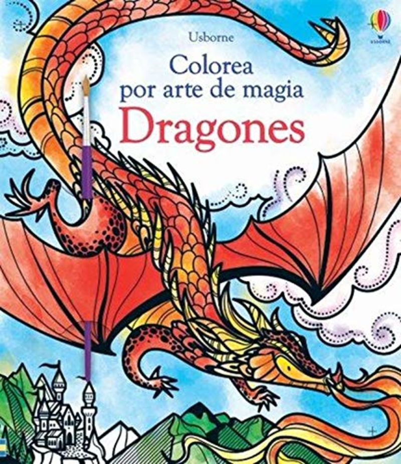 dragones - colorea por arte de magia - Fiona Watt