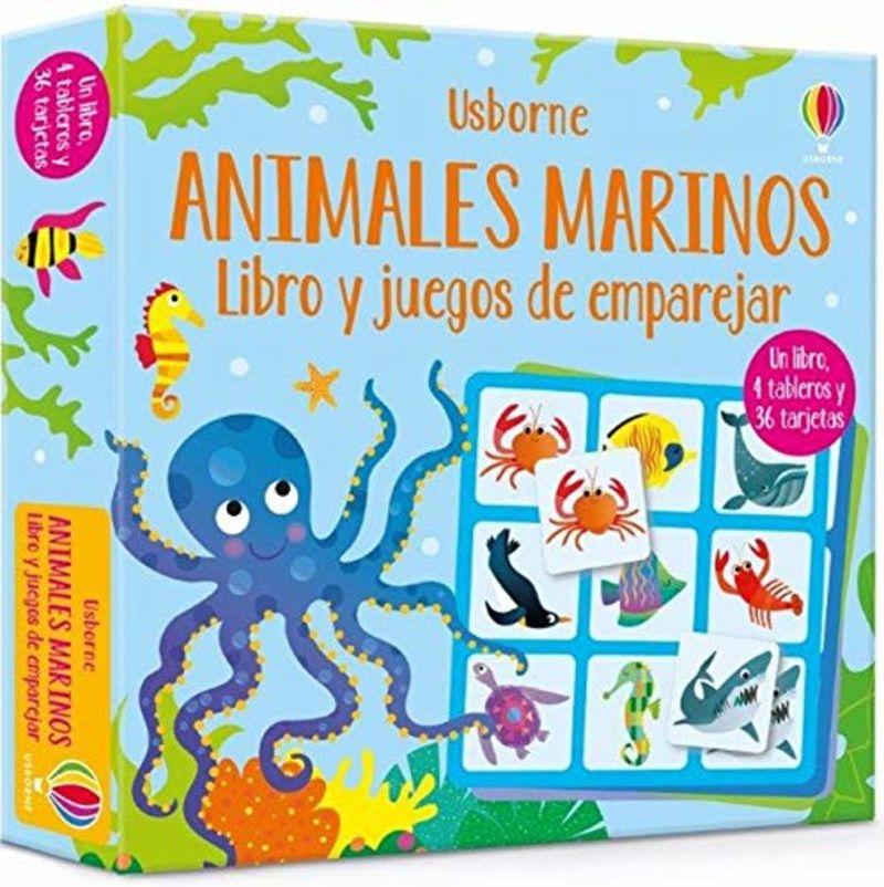 ANIMALES MARINOS - LIBRO Y JUEGOS DE EMPAREJAR