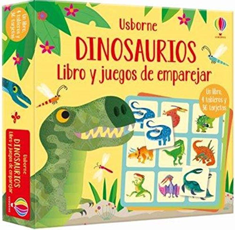 DINOSAURIOS - LIBRO Y JUEGOS DE EMPAREJAR