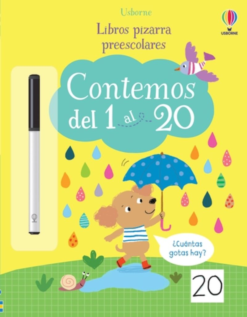 CONTEMOS DEL 1 AL 20 - LIBROS PIZARRA PREESCOLARES