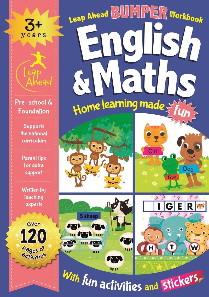 LEAP AHEAD BUMPER WORKBOOK: 3+ YEARS ENGLISH & MATHS