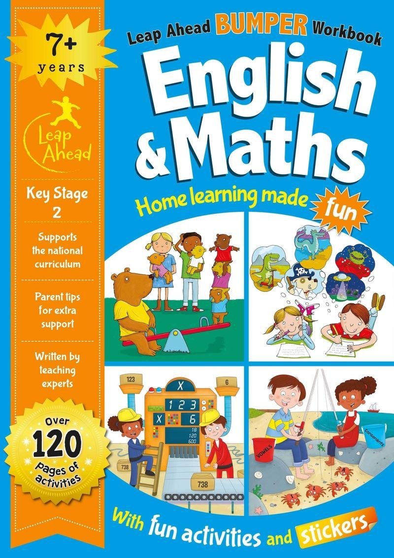 LEAP AHEAD BUMPER WORKBOOK: 7+ YEARS ENGLISH & MATHS