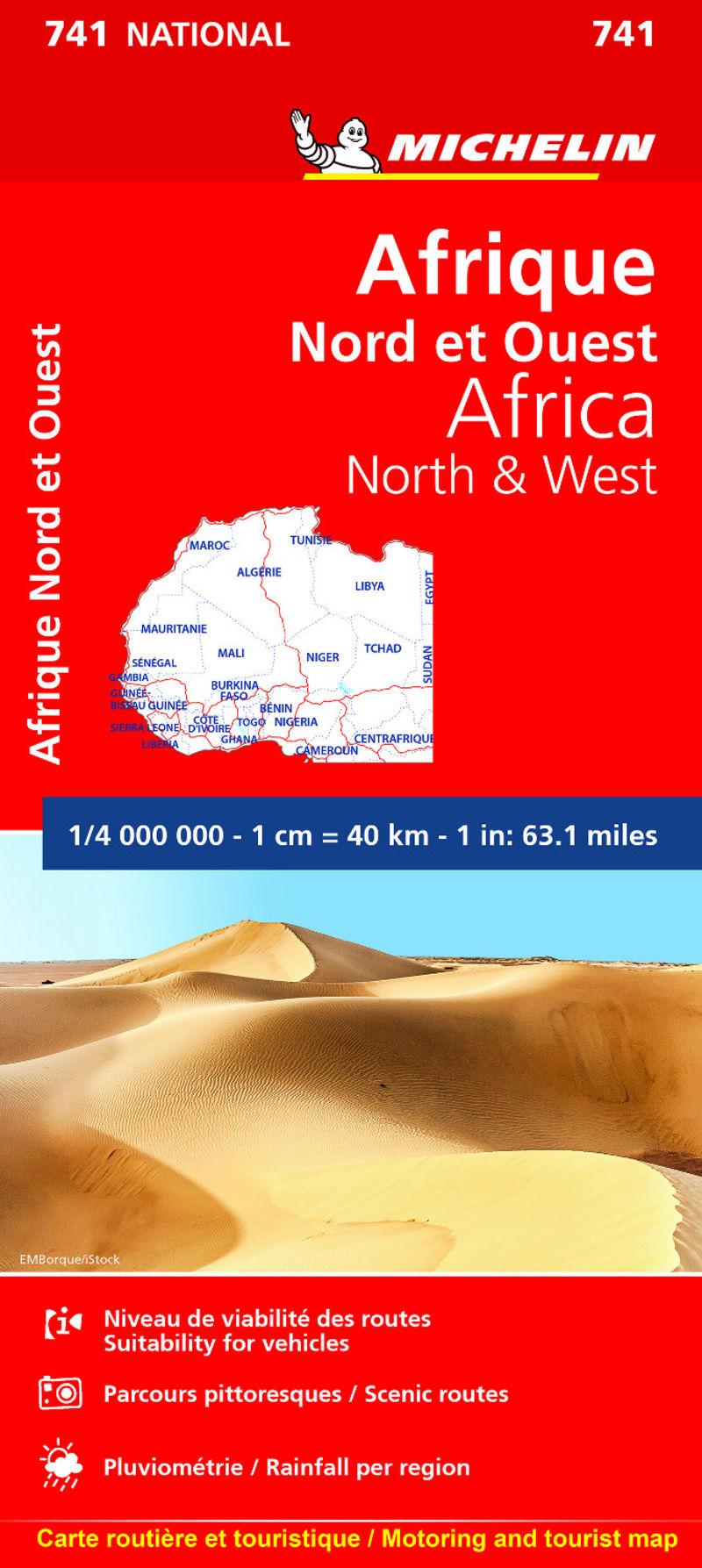 MAPA NATIONAL AFRIQUE NORD ET OUEST 741 (2019)