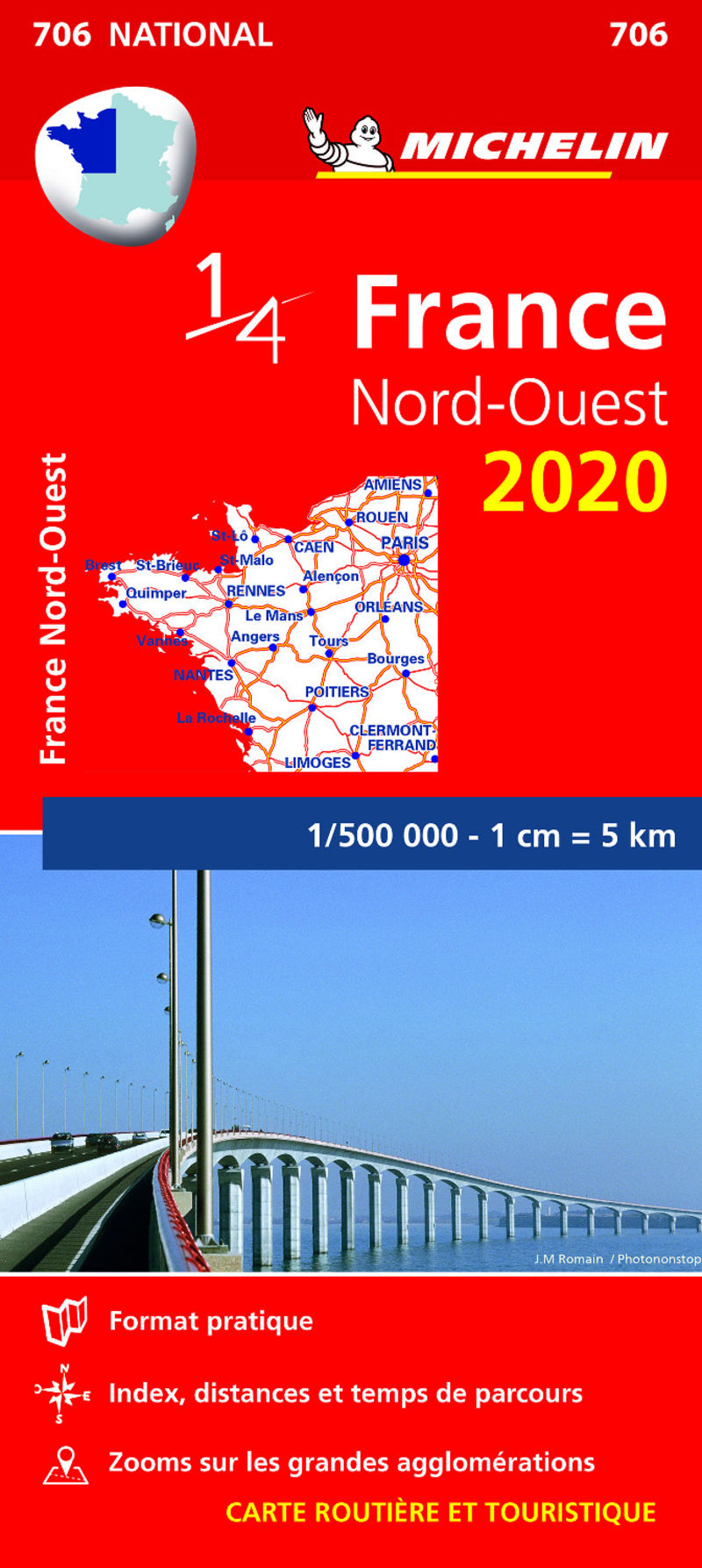 MAPA NATIONAL FRANCIA NORD-OUEST 706 (2020)