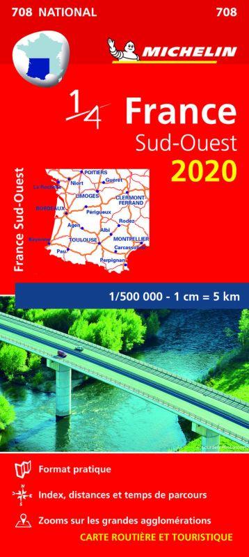 MAPA NATIONAL FRANCIA SUD-OUEST 708 (2020)