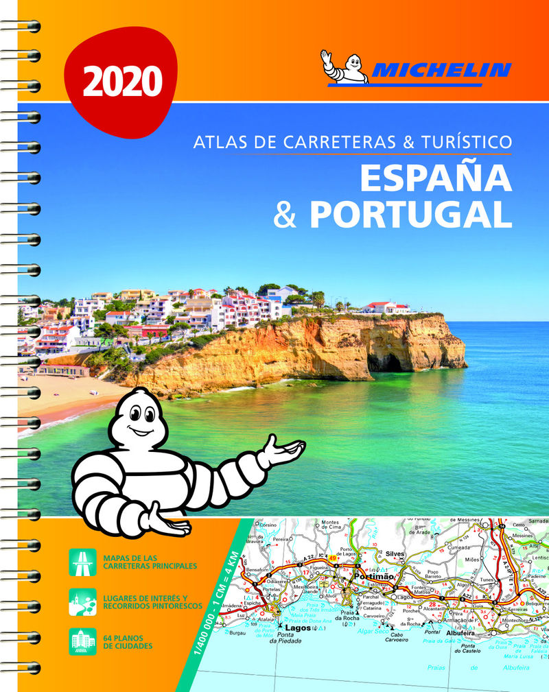 ATLAS CARRETERAS Y TURISTICO ESPAÑA & PORTUTAL (A4) (2020)