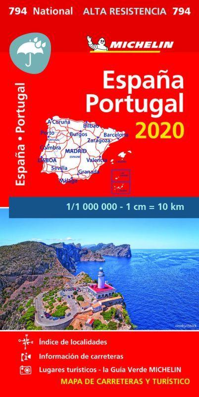 MAPA NATIONAL ESPAÑA / PORTUGAL ALTA RESISTENCIA 794 (2020)