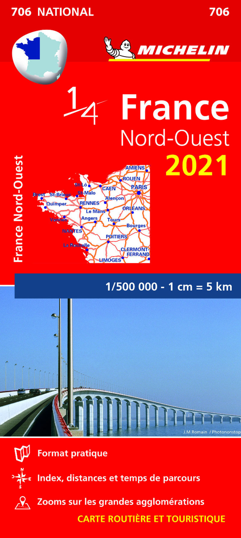 MAPA NATIONAL FRANCE NORD-OUEST 2021 (11706)