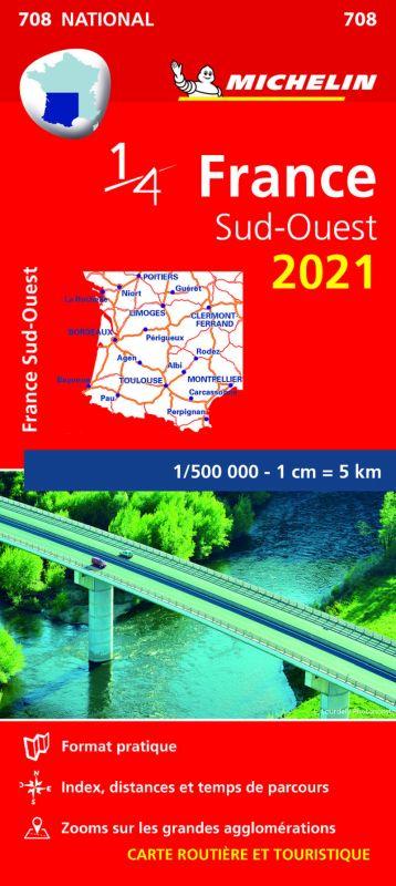 MAPA NATIONAL FRANCIA SUD-OUEST 708 (2021)