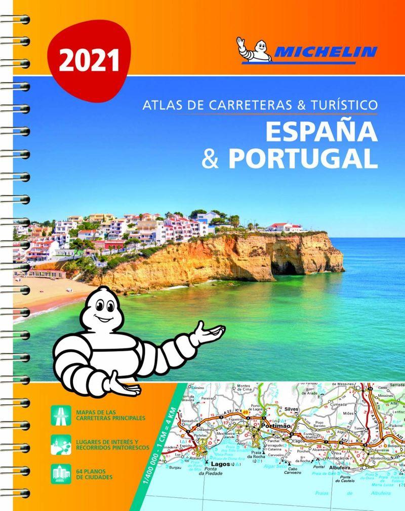 ATLAS CARRETERAS Y TURISTICO ESPAÑA & PORTUGAL (A4) (2021)